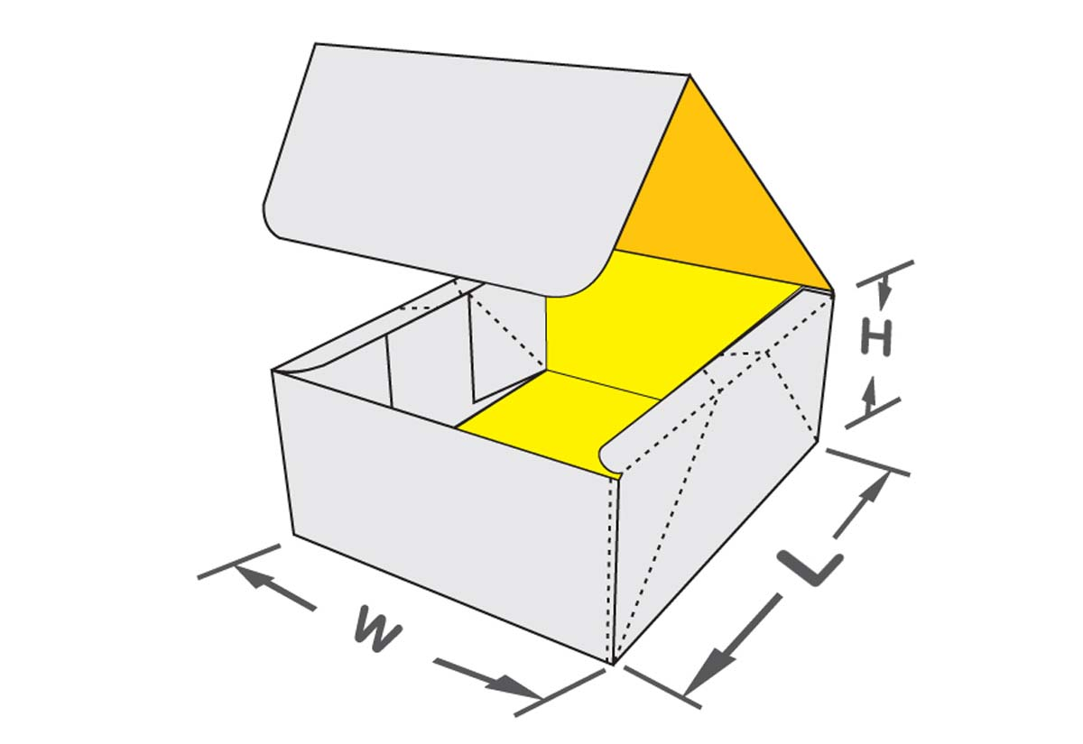 Four Corner With Lid Box